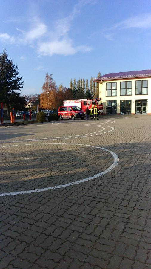 Ankunft der Feuerwehr