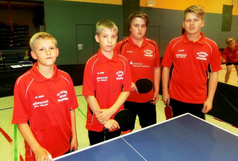 1.Mannschaft:Jonathan Hanisch, Richard Major,Paul Berger,Dustin Brunsch