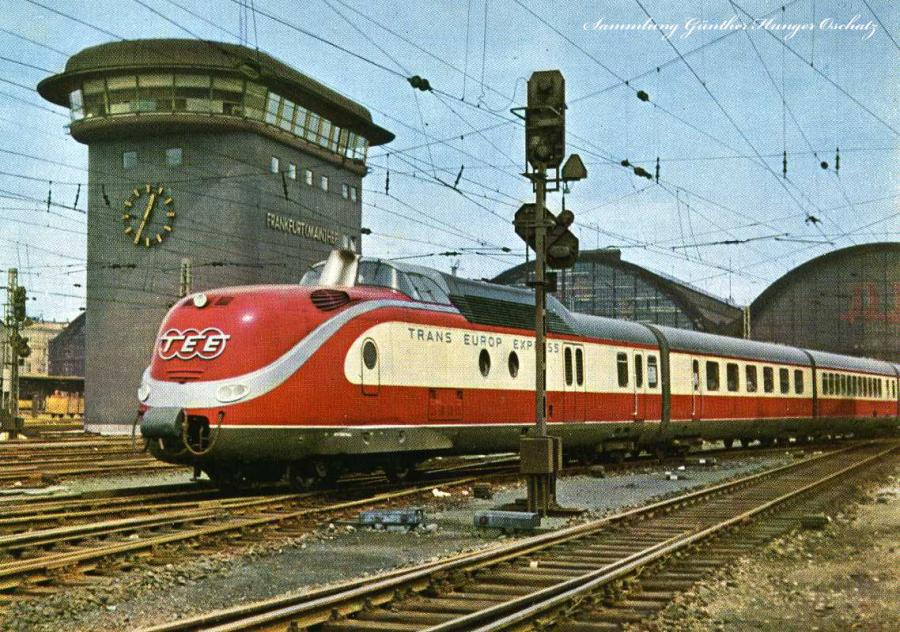 "Frankfurt Main Zentralbildstellwerk ""Trans-Euro-Express Helvetia"""