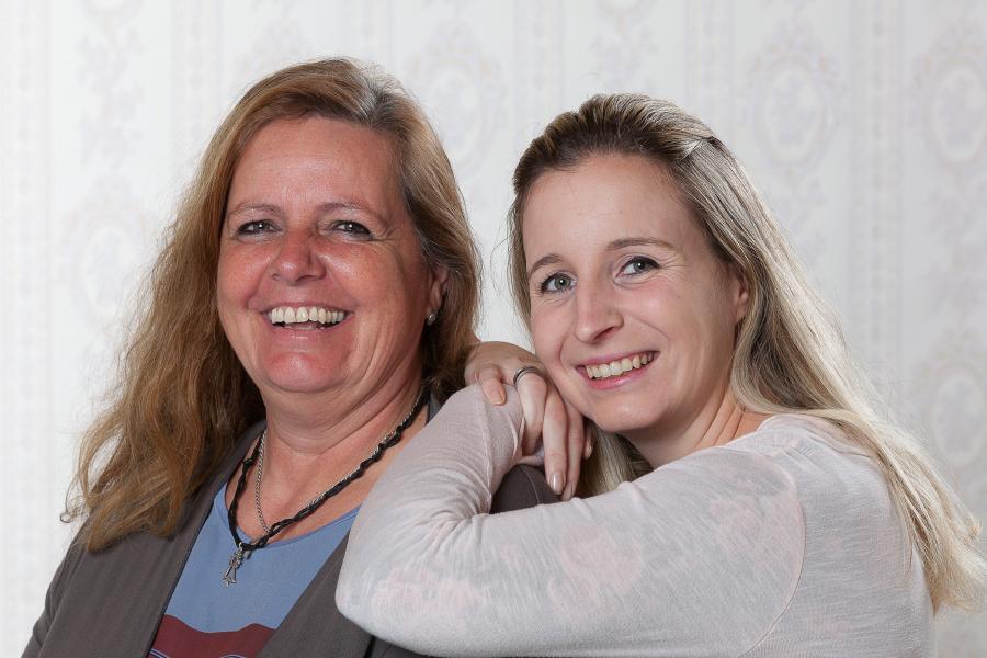 v.l.: Gabriele Fischer (Gruppenleitung) und Anna Dubs