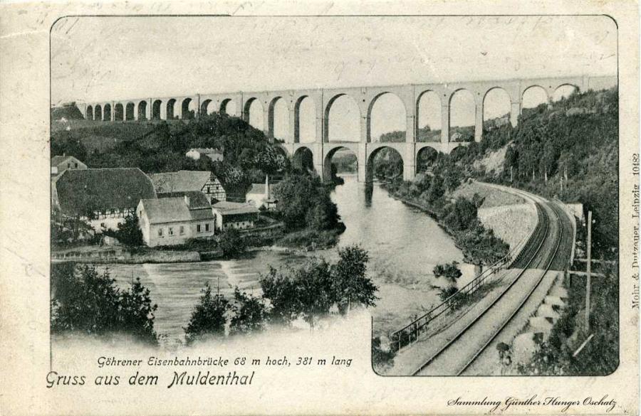 Göhrener Eisenbahnbrücke  1905