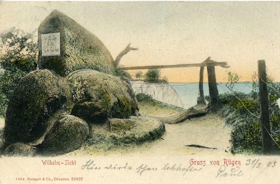 Wilhelm-Sicht Gruss von Rügen 1905