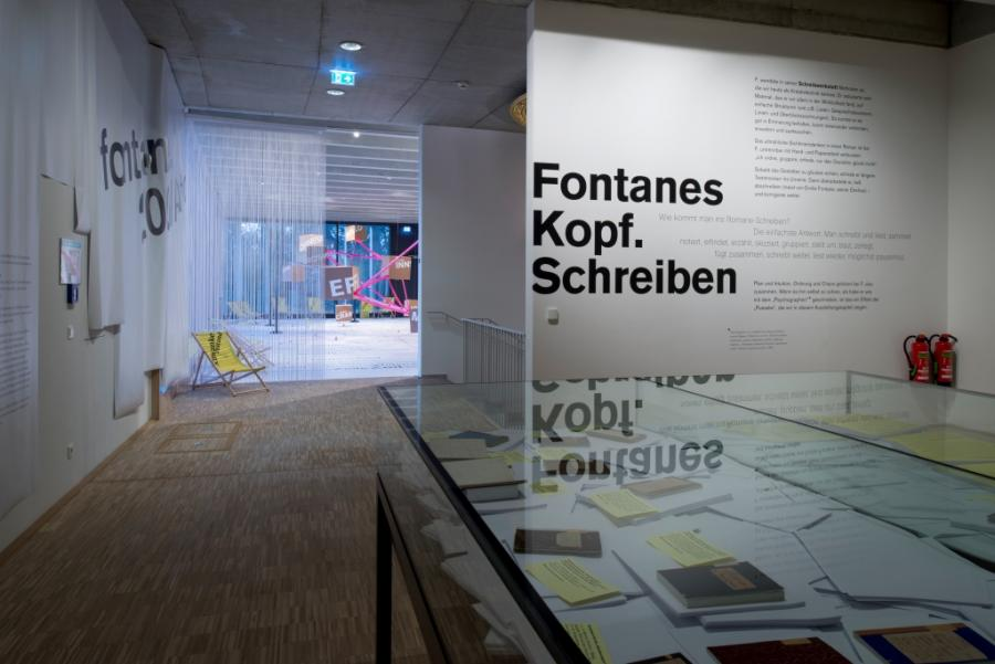 Raum der Ausstellung fontane.200/Autor