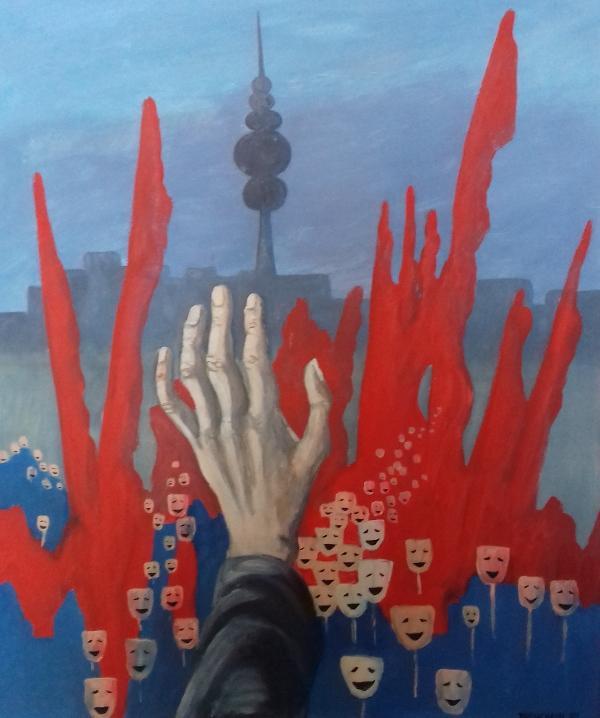 Hurrabild1989 Öl auf Hartfaser50 x 60 cm
