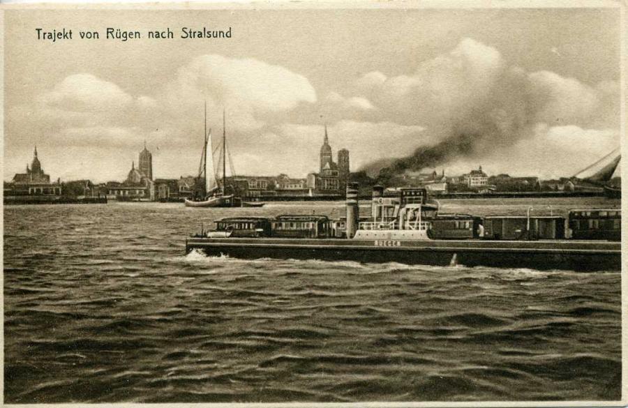 Trajekt von Rügen nach Stralsund