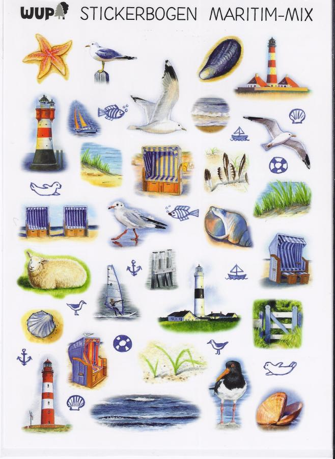 10020 Sticker Maritim Mix