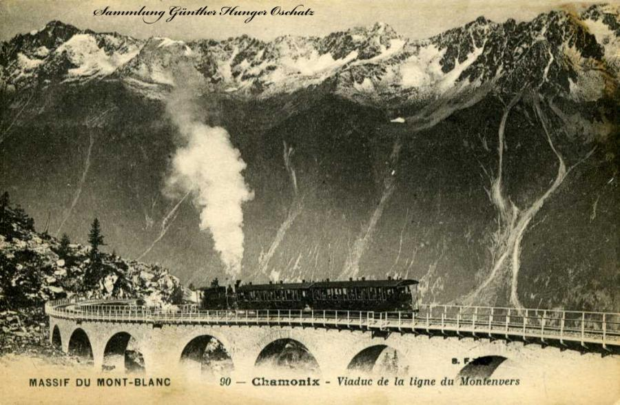 Massif du Mont-Blanc Chamonix Viaduc