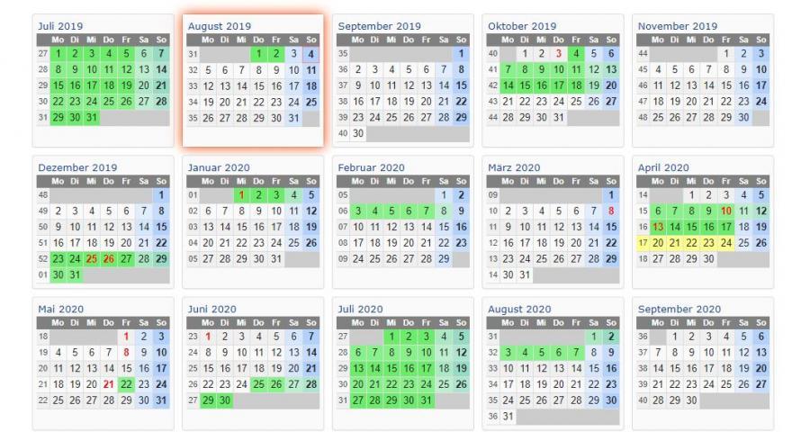 Ferientermine - 2019 - 2020 (2)