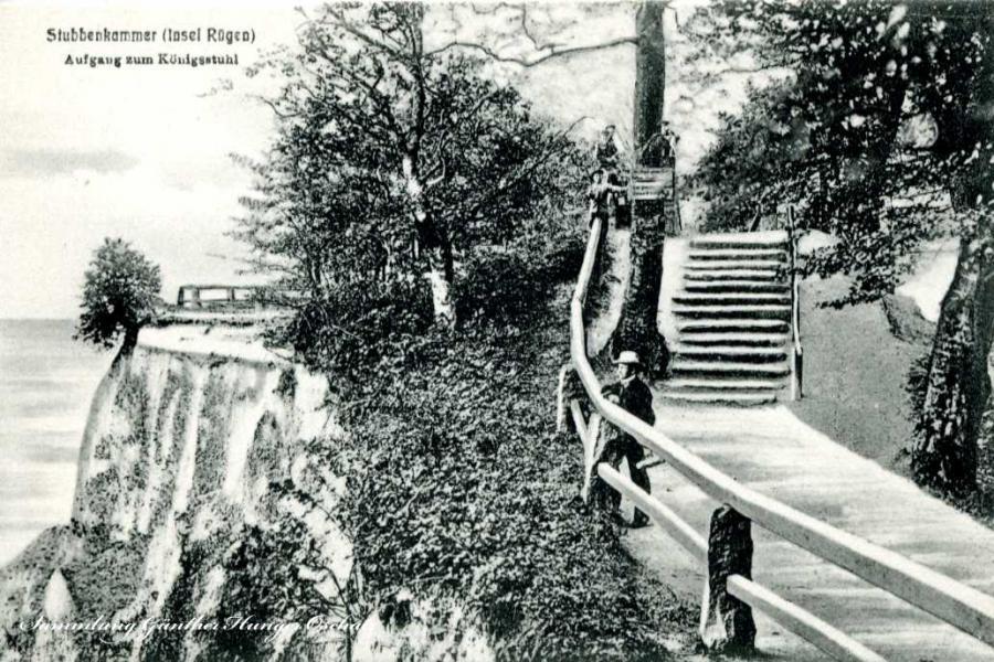 Stubbenkammer Insel Rügen Aufgang zum Königsstuhl