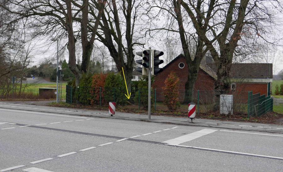 Ehemaliger Standort der Hasenmoorer Telefonzelle (2018)