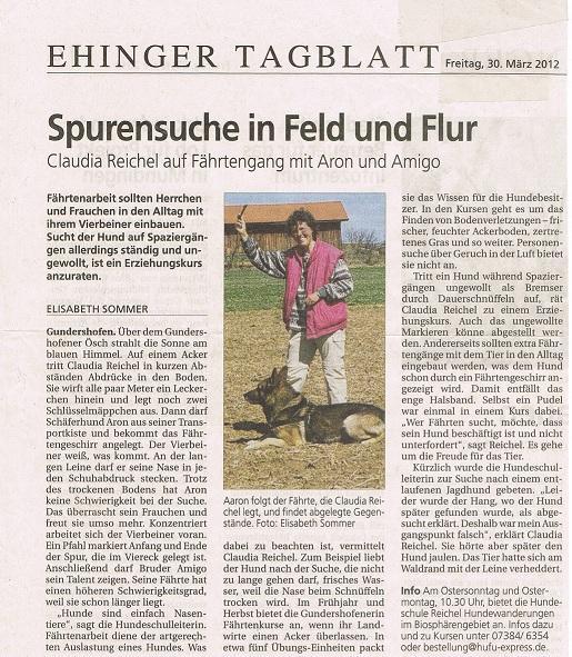 Ehinger Tagblatt 30.03.2012