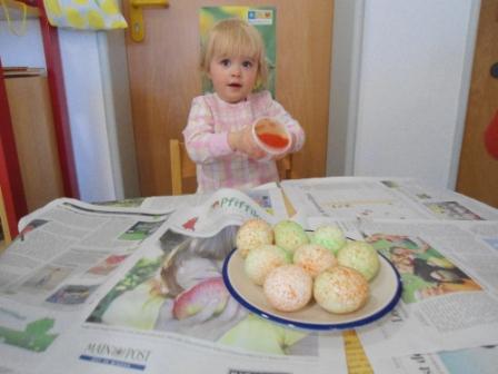 Eier schütteln