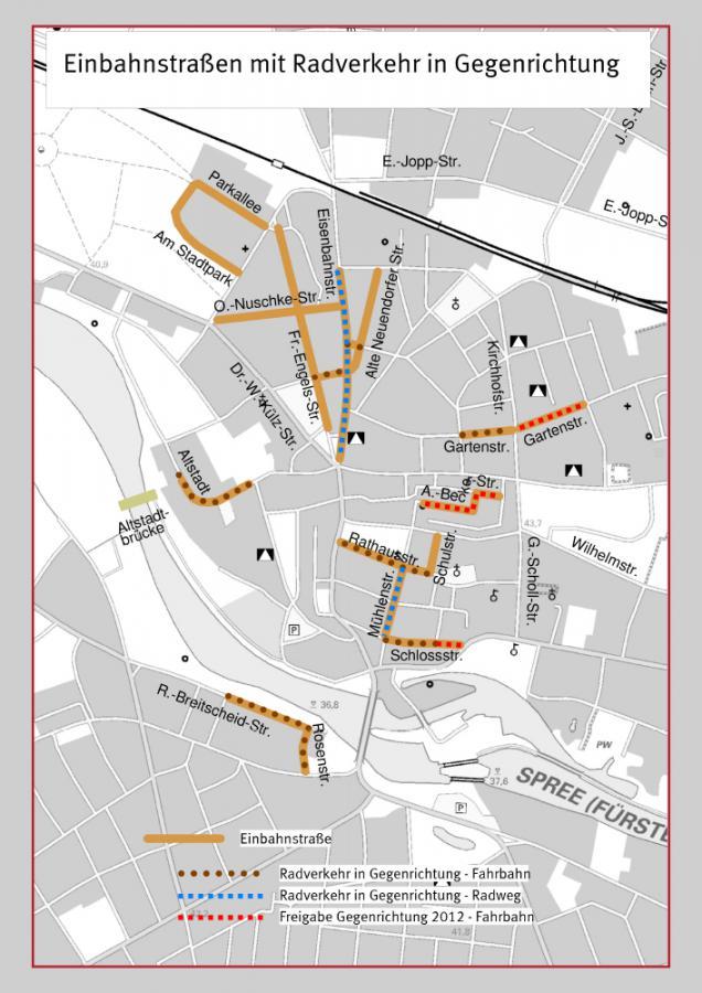 Einbahnstraßen mit Radverkehr in Gegenrichtung_2012