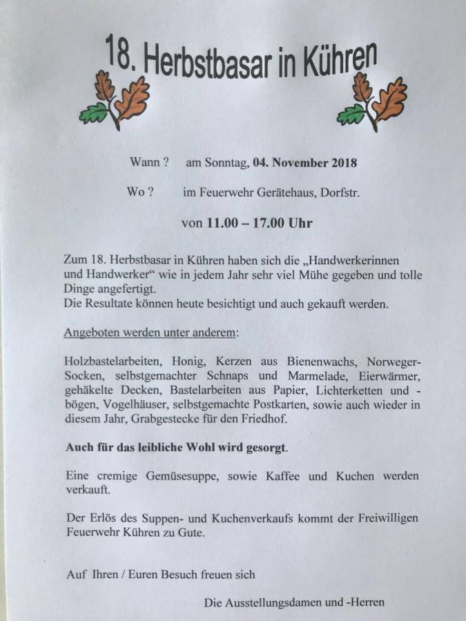 Einladung Herbstbasar