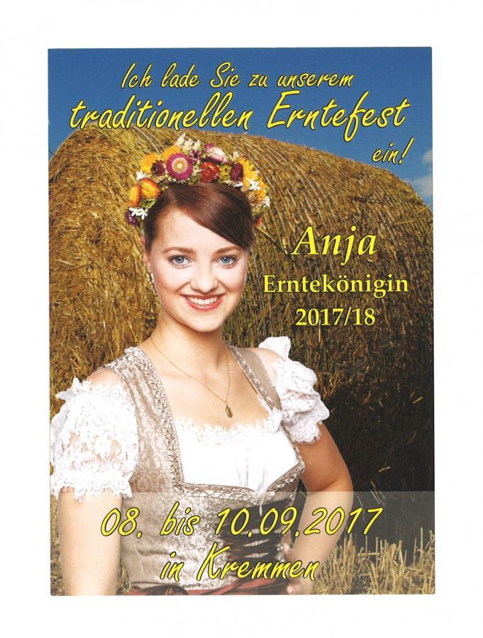 Anja Mink, Erntekönigin der Stadt Kremmen 2017/2018