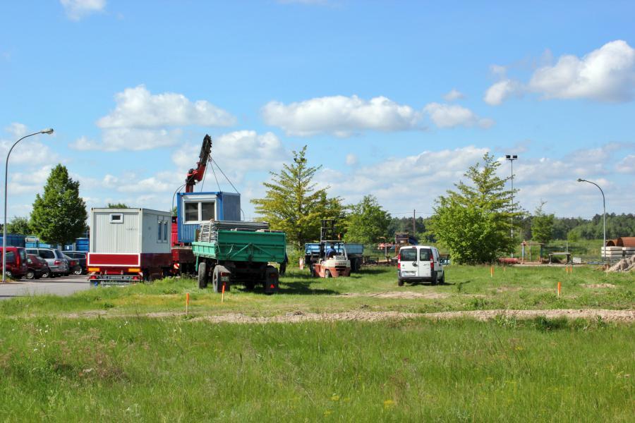 Einrichtung des Baufeld durch die Baufirma 14.05.2012