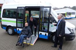 Der neue Bus mit Rampe