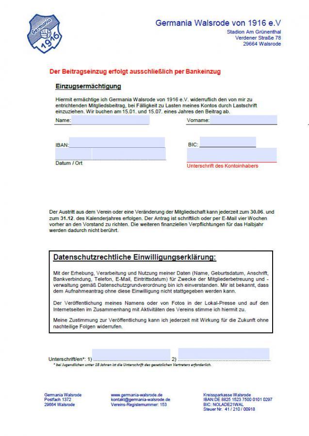 Eintrittserklärung Seite 2