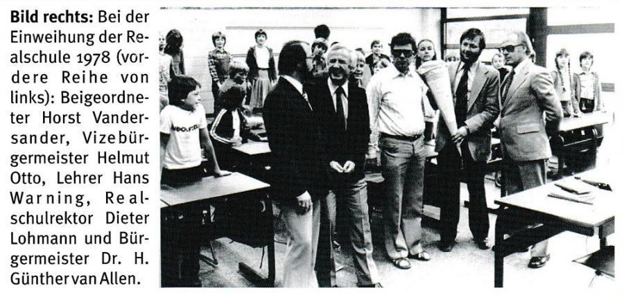 Einweihung der Realschule 1978