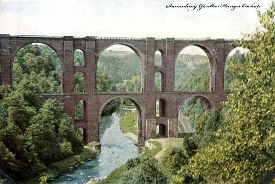 Eisenbahnbrücke bei Jocketa Vogtl.