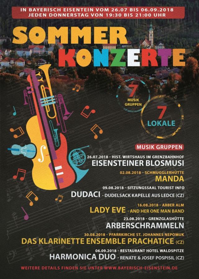 Plakat der Eisensteiner Sommerkonzerte 2018
