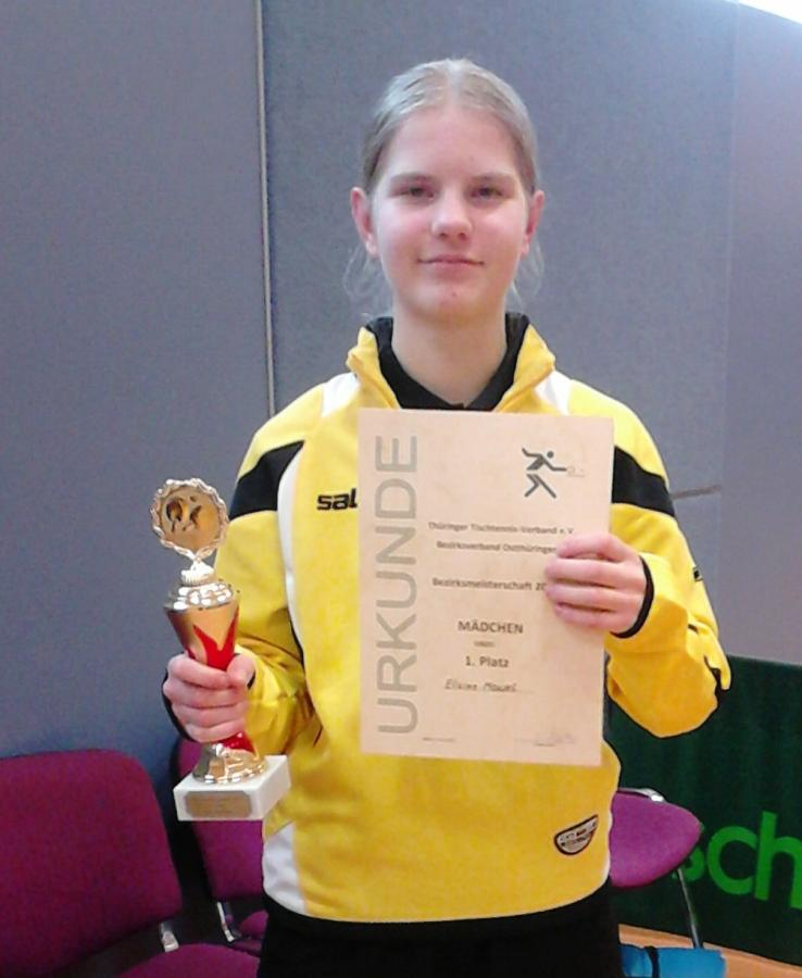 Elaine - Bezirksmeisterin der Jugend 2017