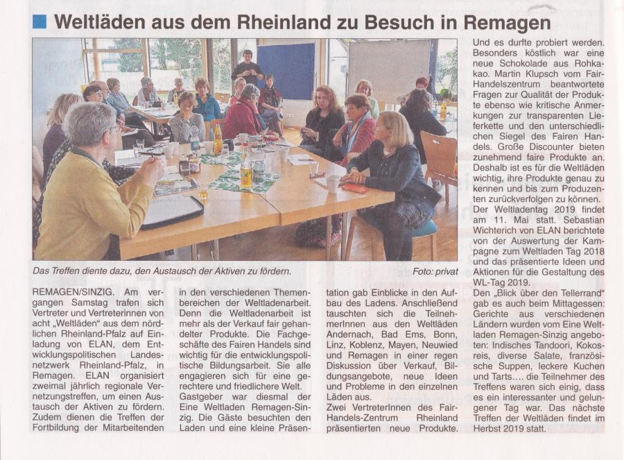 ELAN Regionaltreffen in Remagen