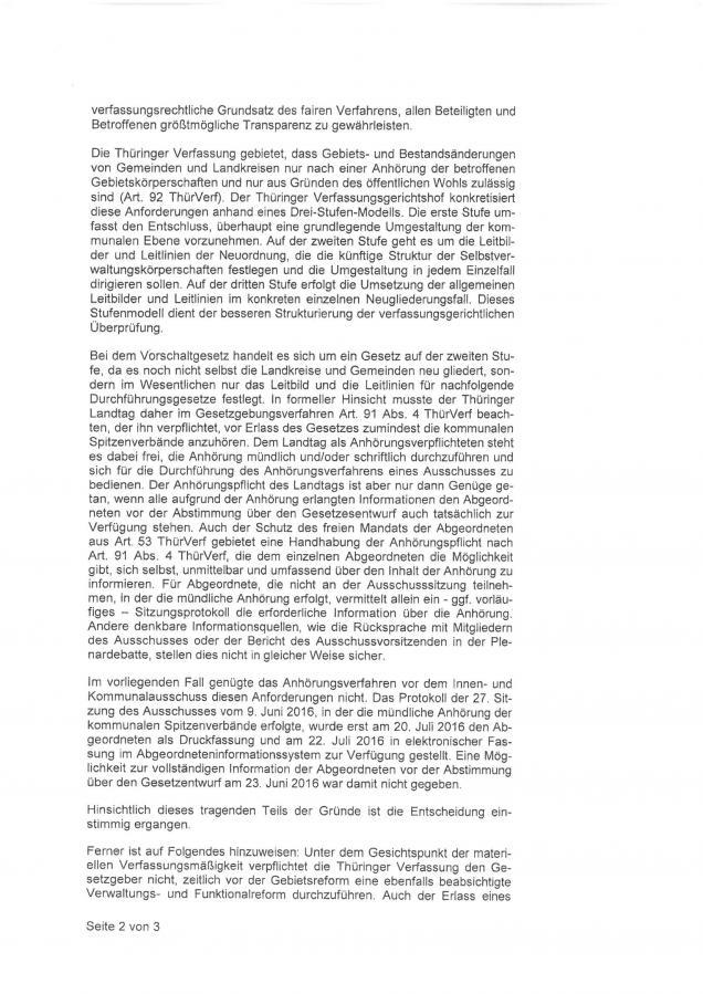 Entscheidung Thür. Verfassungsgerichtshof zum Vorschaltgesetz S. 3