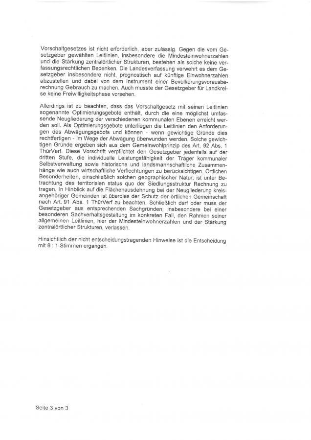 Entscheidung des Thür. Verfassungsgerichtshofes zum Vorschaltgesetz S. 4