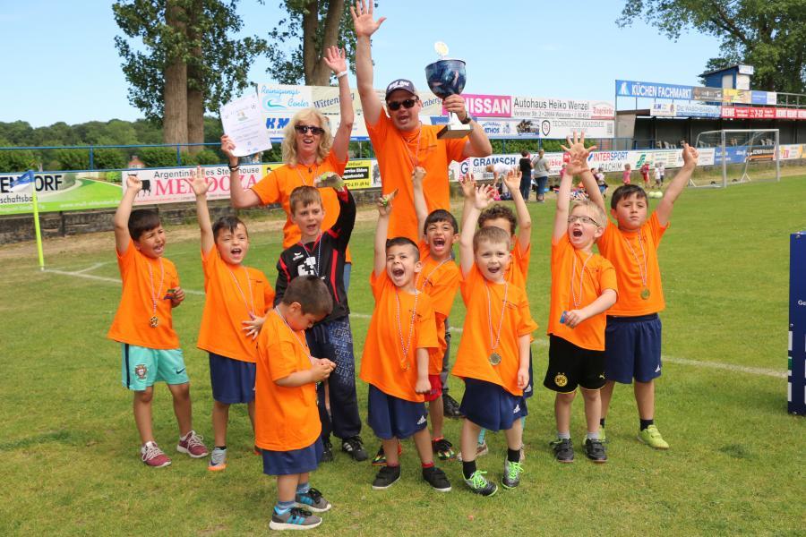 Kindergarten-Cup 2018 - Tiger-Club - Kita Grünstraße - Erfolgreichste Mannschaft