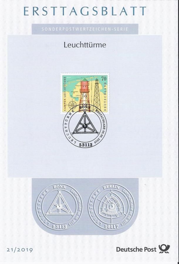 40017 Ersttagsblatt LT Campen