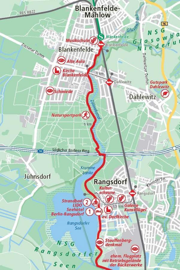 1. Etappe Blankenfelde - Rangsdorf 7,5 km