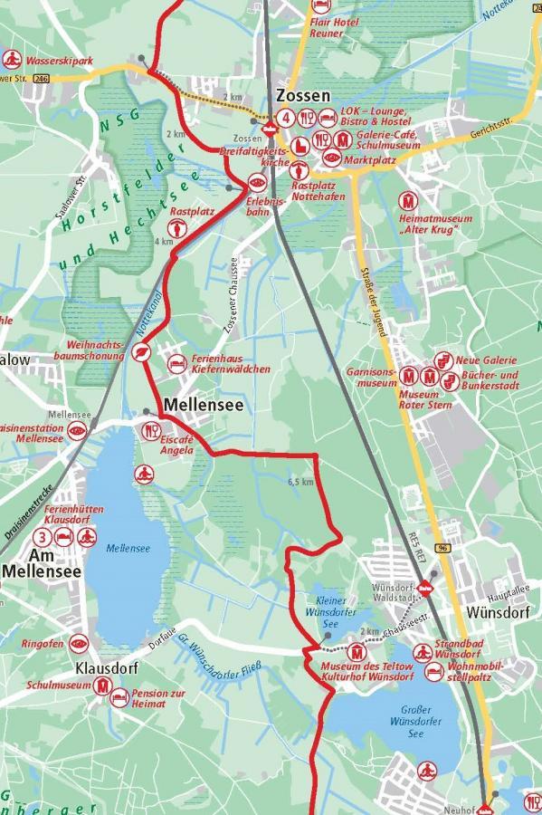 3. Etappe Zossen - Wünsdorf 9,5 km