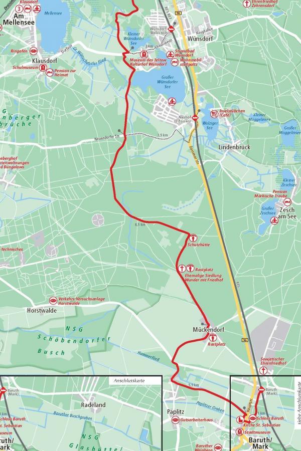 4. Etappe Wünsdorf-Baruth 22,5 km.