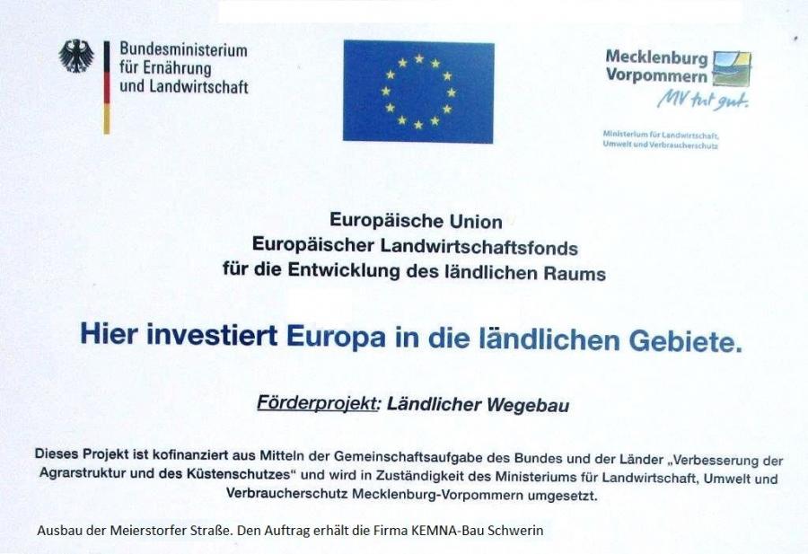 Tessenow, EU-Wegebau