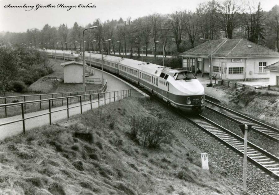Ext Karlex  Durchfahrt Haltepunkt Jößnitz