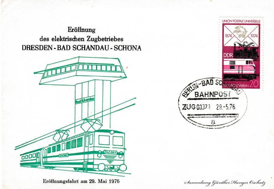 Eröffnung des elektrischen Zugbetriebes Dresden-Bad Schandau-Schöna