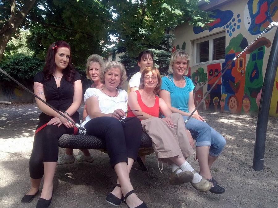 v.l. Frau Höhne, Frau Sander, Frau Weiß, Frau Spaller (hinten), Frau Töpfer (vorn), Frau Bolde