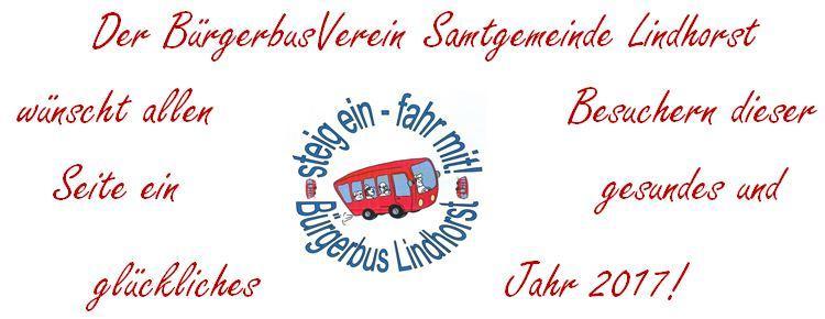 Neujahrsgrüße Bürgerbus