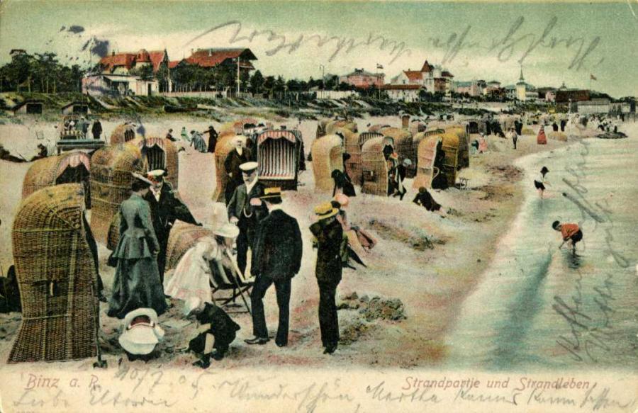 Binz a. R. Strandpartie und Strandleben