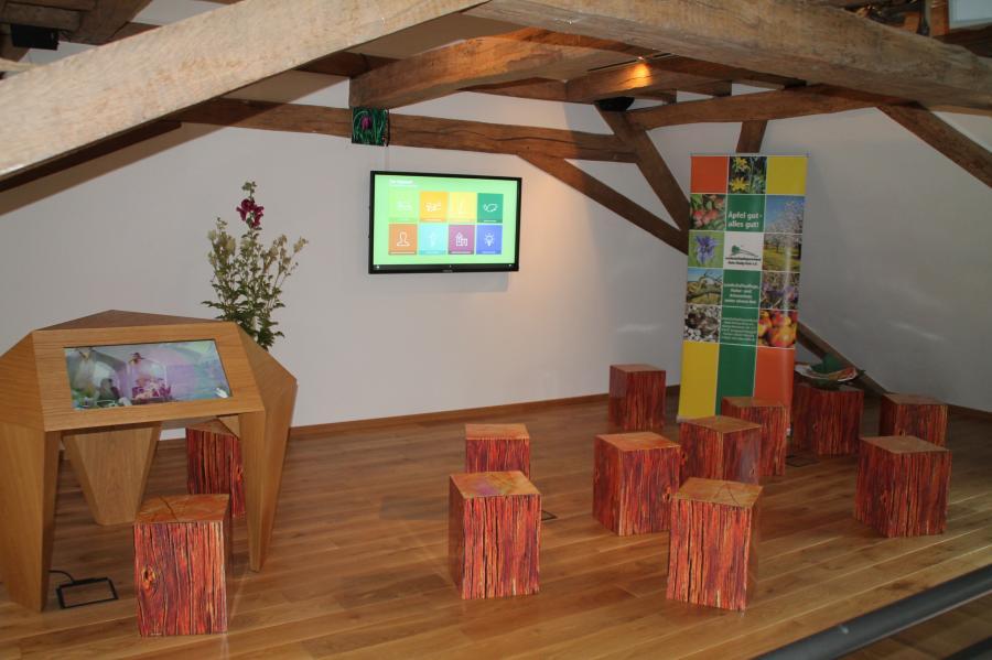 Ein interaktives Informationssystem verrät Wissenswertes über den Lebensraum, die Kulturlandschaft, Tiere und Pflanzen im Spessart.