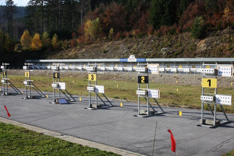 Hohenzollern Skistadion am Großen Arbersee- Schießstand