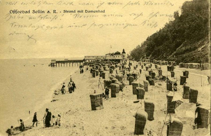 Ostseebad Sellin Strand mit Damenbad