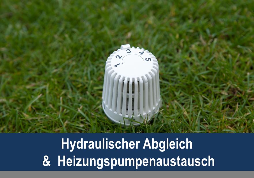 Link zu Hydraulischer Abgleich und Heizungspumpenaustausch; Bild zeigt ein Thermostat auf Rasen