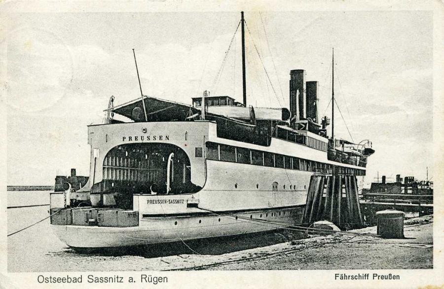 Ostseebad Sassnitz Fährschiff Preußen 1929
