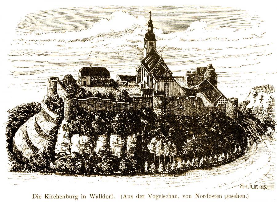 Kirchenburg nach Lilie