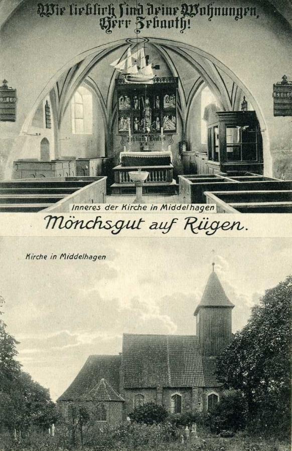 Mönchsgut auf Rügen Kirche Middelhagen