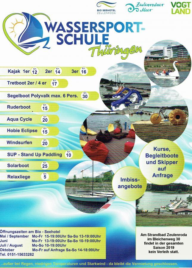 Angebote Wassersportschule Thüringen
