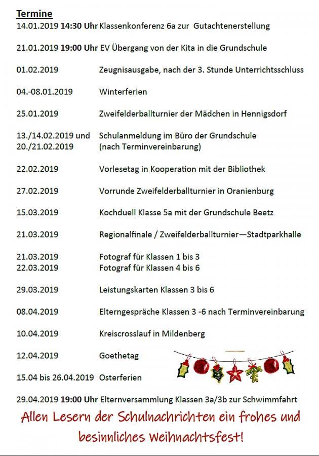 Schulnachrichten Winter 18/4