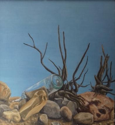 Strandgut1986 Öl auf Hartfaser50 x 60 cm